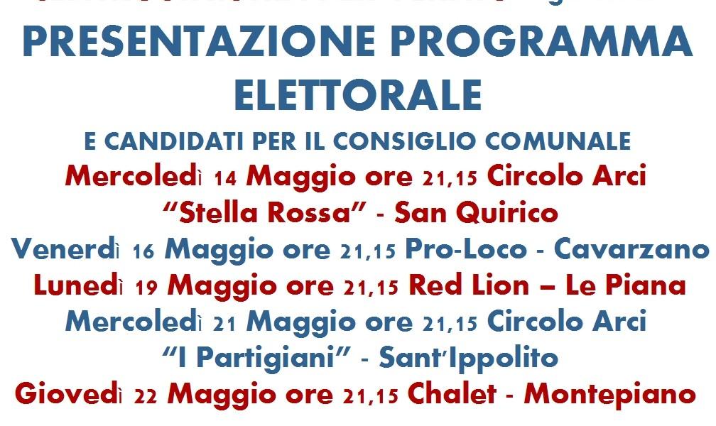 Gli eventi in programma per le ultime due settimane di campagna elettorale